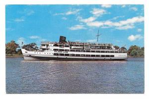 SS Mount Vernon Potomac River Cruise Liner Vtg Ship Postcard