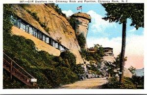 North Carolina Chimney Rock Cliff Dwellers Inn Chimney Rock and Pavilion