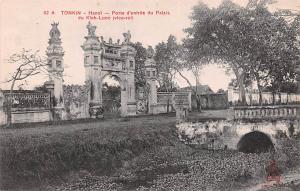 Tonkin Vietnam, Viet Nam Hanoi, Porte d'entrée du Palais du Kinh Luoc Tonkin...