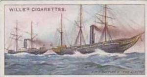 Wills Vintage Cigarette Card Celebrated Ships No 21 H M S Rattler Vs The Alec...