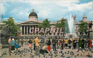 Postcard Modern London Trafalgar Square and National Gallery