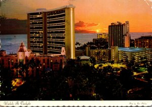Hawaii Waikiki At Twilight 1976