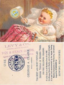 Victorian Trade Card Approx size inches = 3 x 4.5 Pre 1900 trimmed
