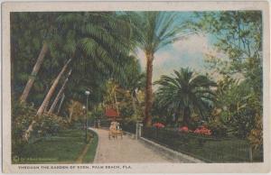PALM BEACH FL - GARDEN OF EDEN WALKWAY + AFROMOBILE 1910s / Guionnaud