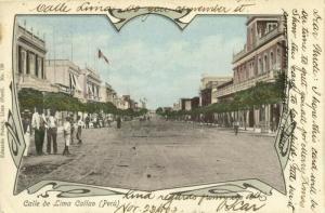 peru, CALLAO, Calle de Lima (1903) Postcard