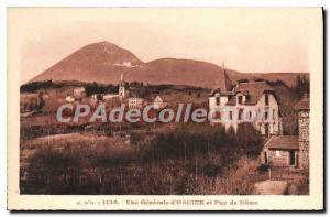 Old Postcard General view of orcin and Puy de Dome