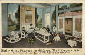 New York City Mother Goose Playroom Vanderbilot Hotel Nursery Postcard