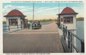 NEWPORT NEWS, Virginia, 1910s ; James River Bridge