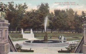 Illinois Peoria Fountain In Sunken Garden Glen Oak Park