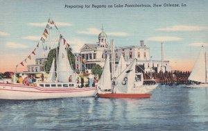 NEW ORLEANS , Louisiana , 30-40s ; Lake Pontchartrain Regatta Preps