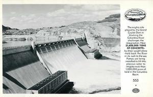 RPPC Grand Coulee Dam on Columbia River, WA, Washington, Real Photo