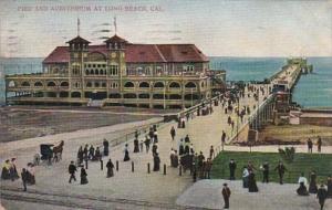 California Long Beach Pier and Auditorium 1907