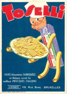 Macaroni Toselli italian food product paste Belgium made Usines Bara Brussels