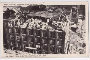 1938 Hurricane, Kane's Furniture Store Ruins, Worcester MA
