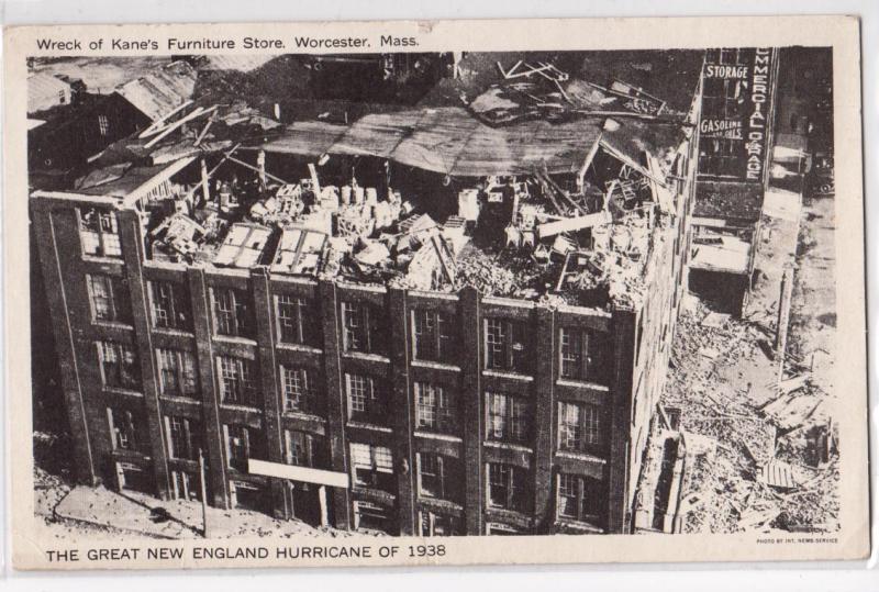 1938 Hurricane, Kaneu0027s Furniture Store Ruins, Worcester MA
