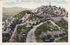 California Riverside Sunrise Services Easter Sunday Mount Rubidoux 1926
