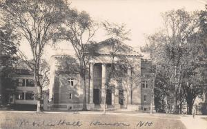 Hanover NH~Dartmouth College~Webster Hall~1912 Real Photo Postcard~RPPC