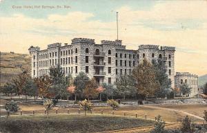 Evans Hotel, Hot Springs, South Dakota Antique Postcard (T3363)