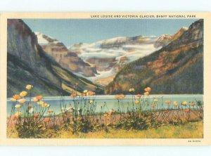 Linen LAKE SCENE Banff Alberta AB AE4480