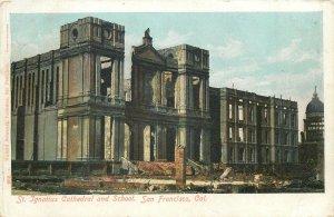 USA Postcard San Francisco CA St Ignatius Cathedral and School