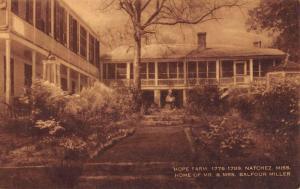 Natchez Mississippi Hope Farm Miller Home Antique Postcard K41382