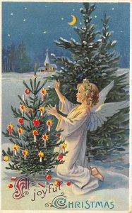 Christmas Hold to Light Writing on back
