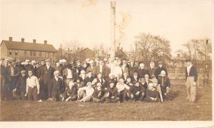 Real Photo Postcard~College? Wrenshaw~Before Egg Fight~Worst Thing Ever~c1912