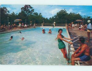 Pre-1980 POOL AT SKYLINE INN MOTEL IN POCONOS Mount Pocono Pennsylvania PA L0947