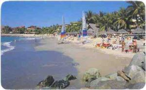 Beach Area of the Las Palmas Hotel, Puerto Vallarta, Jal. Mexico, 1992 Chrome