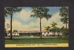 FL Clearwater County Club Golf Golfing Course Florida Postcard Pro Billy Burke