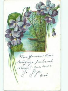 Divided-Back BEAUTIFUL FLOWERS SCENE Great Postcard AA3566