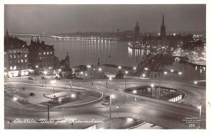 Sweden Old Vintage Antique Post Card Utsikt fran Katarinahissen Stockholm Unused