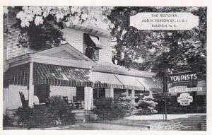 North Carolina Raleigh The Restover Guest Home 1965