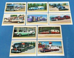 Set of 10 NEW Vintage Car Caravan RV Summer Vacation Holidays Postcrossing