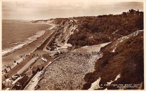 uk21424 view from west cliff bournemouth real photo uk
