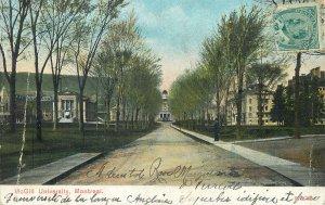 Postcard Canada montreal mcgrill university street park architecture
