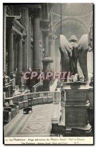 Old Postcard Madeleine Angel Worshiper Altar of Paris