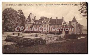 Postcard Old St Andre hebertot Calvadas the castle Aguesseau Historical Monum...