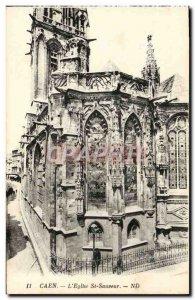 Old Postcard Caen L & # 39Eglise St Savior