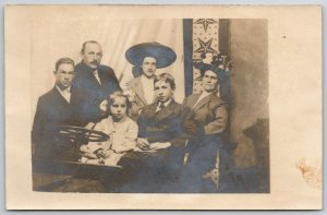 Coney Island RPPC Family, Bill's Gal~We Look Like We're To Be Hanged Friday 1910