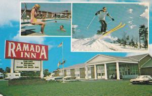 Swimming Pool, Ski Jump, Classic Cars, The Ramada Inn, South Burlington, Verm...