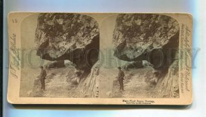 3143288 NORWAY Naero Fjord Sogne STEREO PHOTO