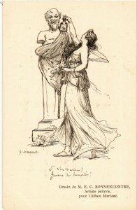 PC CPA ADVERTISING, MARIANI, DESSIN DE M.E.C. BONNENCONTRE, POSTCARD (b18138)