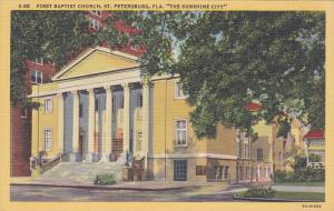 First Baptist Church, St. Petersburg, The Sunshine City, Florida, 30-40s