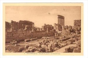 BAALBEK (Syrie now Lebanon), 1910s : Temple de Jupiter - La Grande Cour