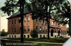 VTG Postcard Central High School 1909 Kalamazoo Michigan Battle Creek  171