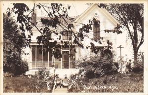 Arkansas Van Buren Uncle Hicks and Uncle George at Bob Burns Home Real Photo