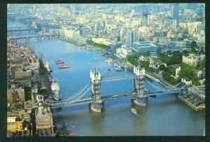 Tower Bridge LONDON AERIAL VIEW Continental Postcard