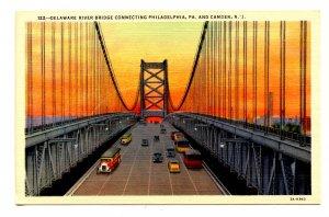 PA - Philadelphia. Delaware River Bridge to Camden, NJ