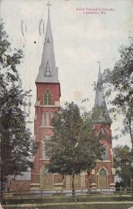 Maine Lewiston Saint Patrick's Church 1938